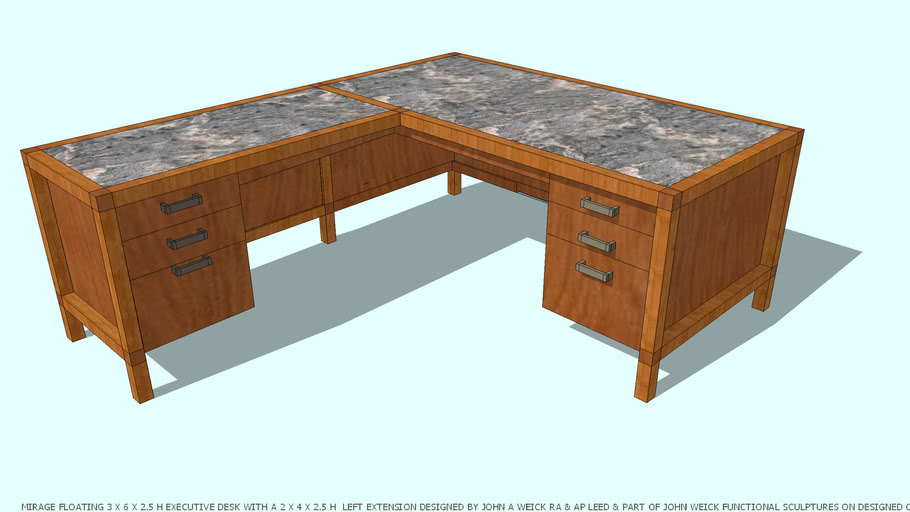 DESK LH RETURN MIRAGE REVISED  BY JOHN A WEICK RA & AP LEED