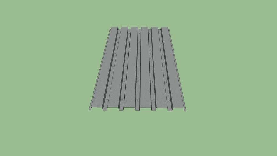 """Steel Decking - 6' x 3' (6"""" - 1.5"""" x 1.5"""" Flute)"""