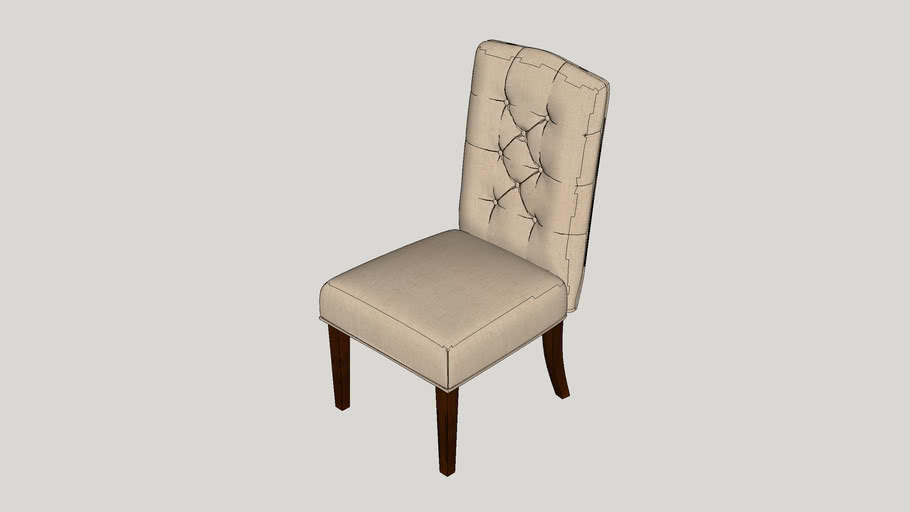 Tufted Linen Side Chairs