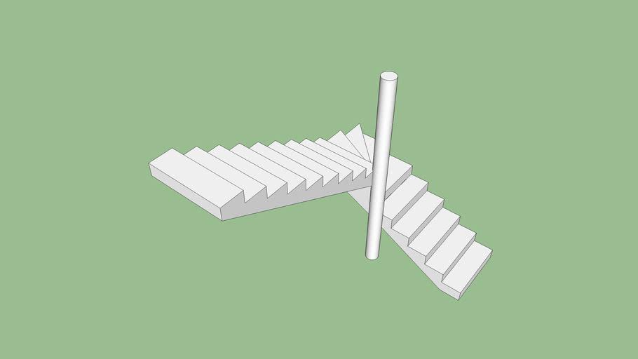Escada em L Rodolfo pé direito 3m