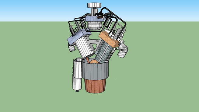 SketchUp 3D Challenge #176-Internal Combustion Chamber