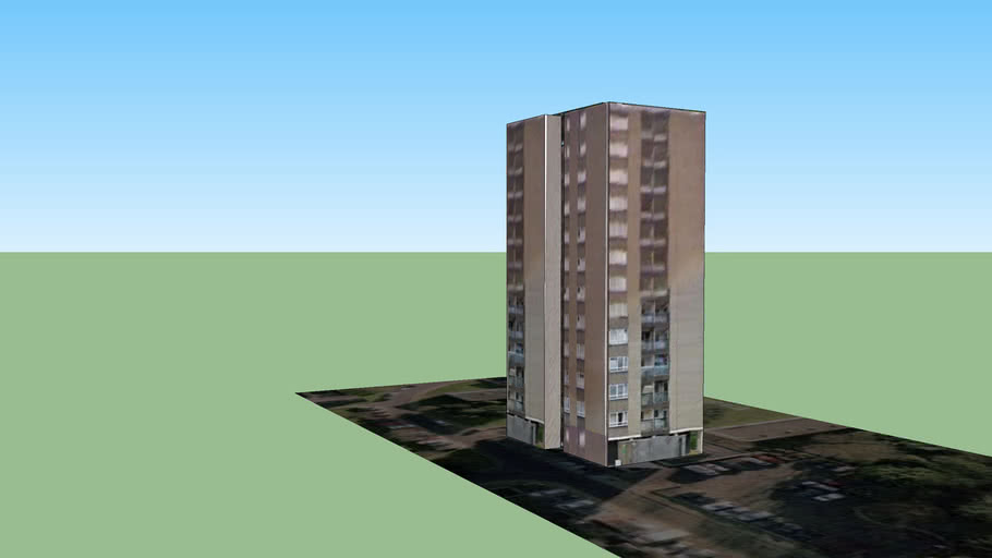 West Wandsworth Tower Block 3 (Part of London3dProject)