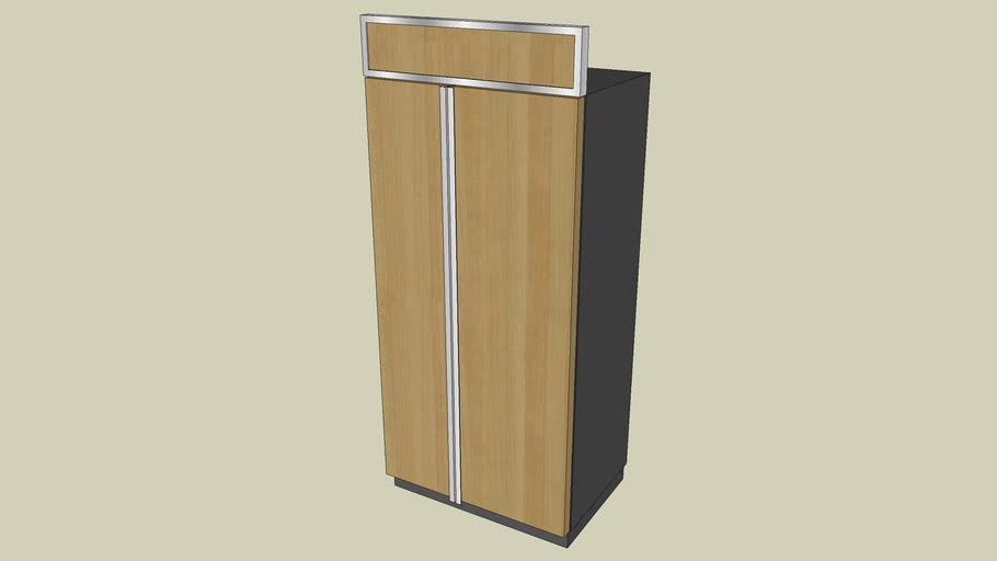 KSSS36FTX KitchenAid 21.1 Cu. Ft., 36 in. Width Built-in Side-by-Side Refrigerator