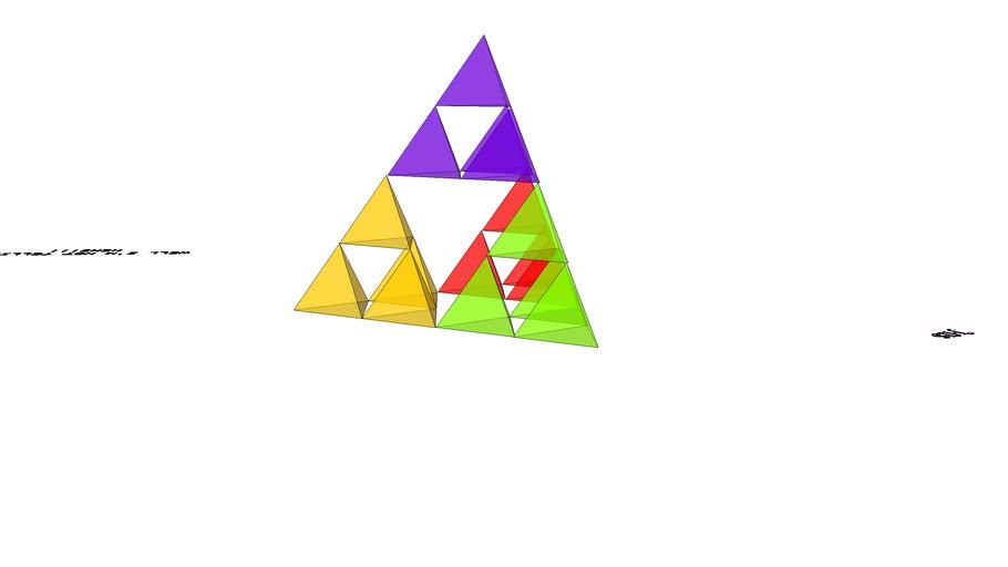 S2 girl multi-coloured glass tetrahedron