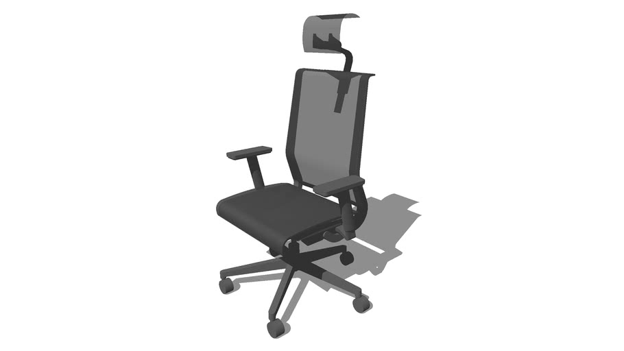 standart office chair.  silhouette. outline