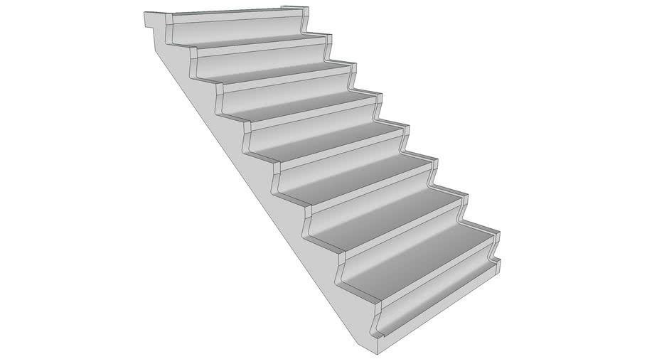 Prefab betontrap 8-treden - Precast concrete staircase 8-steps