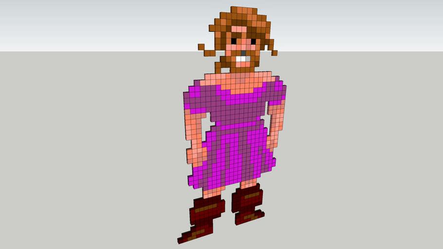 Guybrush Threepwood - Hot Pink Dress (pixel art)