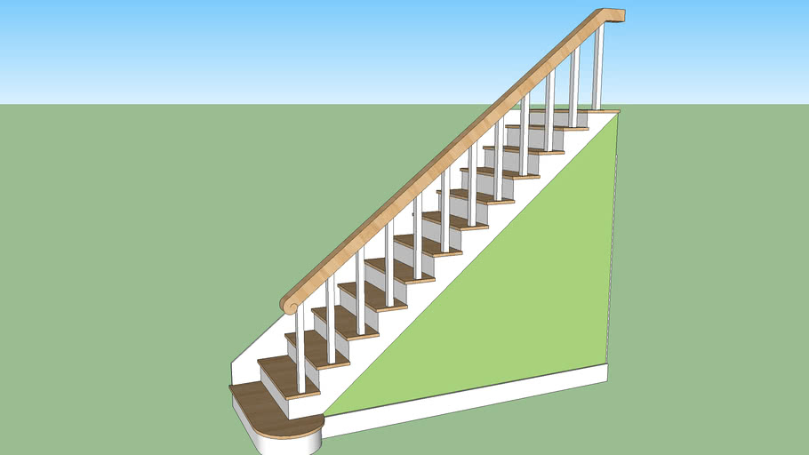 Stair way w/ basement door