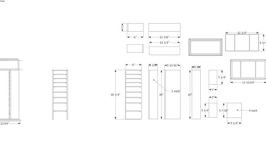 Armoire 2 Parts