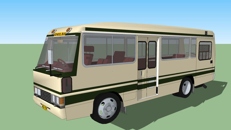 TOYOTA COASTER GREEN AND WHITE