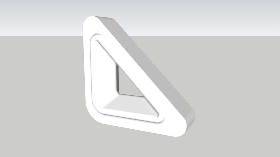 Cobogó Nova Bauhaus Triângulo V Branco (elemento vazado) Burguina Cobogó