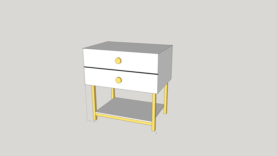 Nouveaux End Table from Vanguard Furniture Nightstand