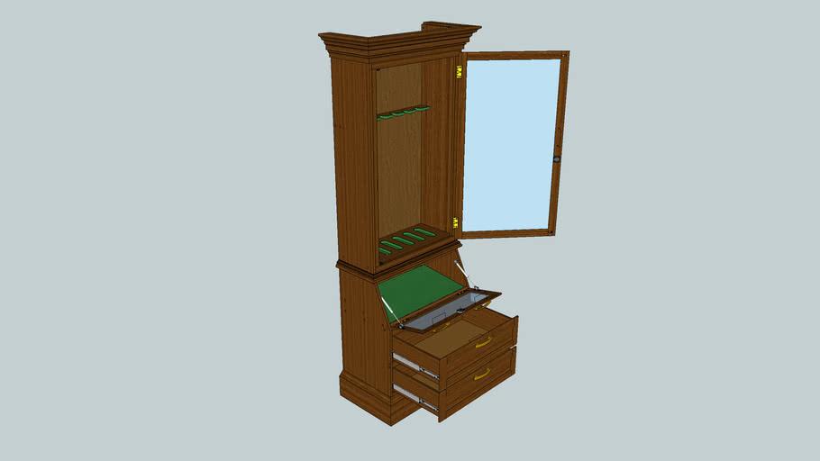 Gun Cabinet-open