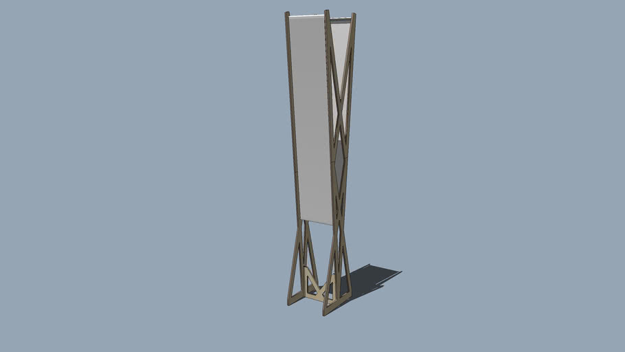 Freestanding Plywood Banner Frame-2
