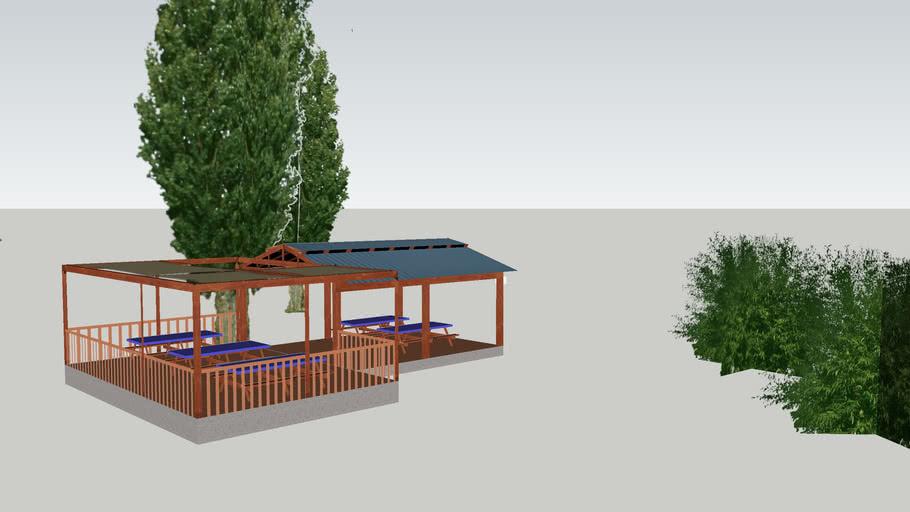 """Cascade Raft & Kayak_""""Sawtooth"""" patio"""