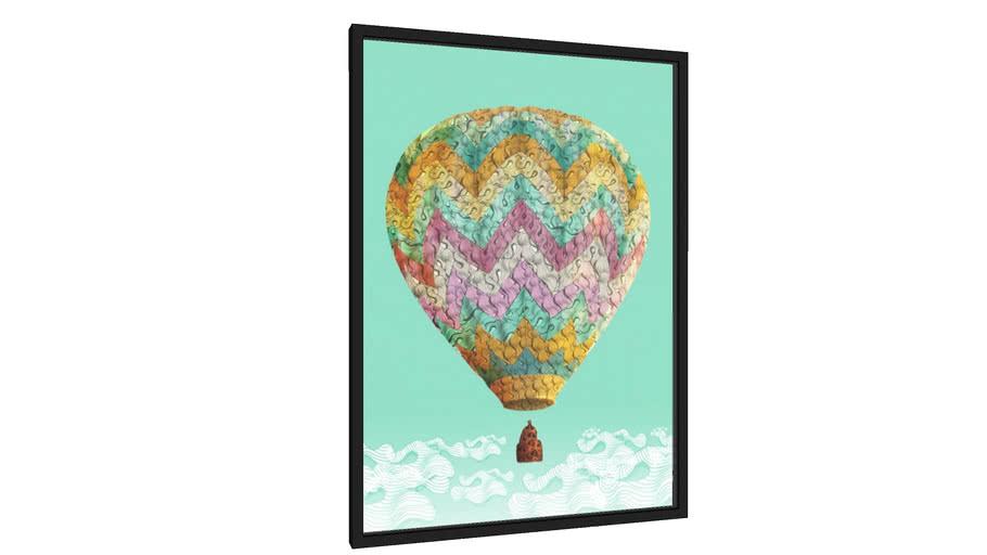 Quadro Balão dos Sonhos - Galeria9, por Matheus Furtado Desenhista