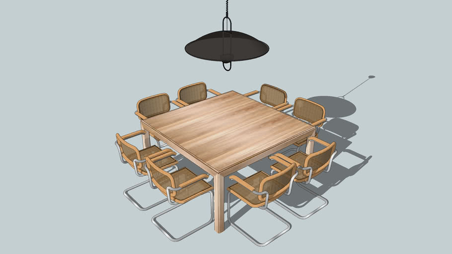 Tavolo quadrato Torcello