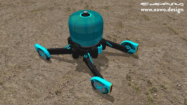 Mango. Humanitarian robot rescue