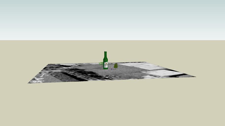 20 Meter Modell einer Veltins Flasche aus Bierkästen