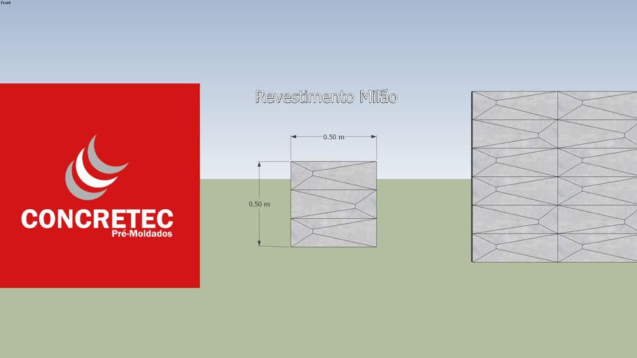 Concretec - Revestimento 3D - Milão