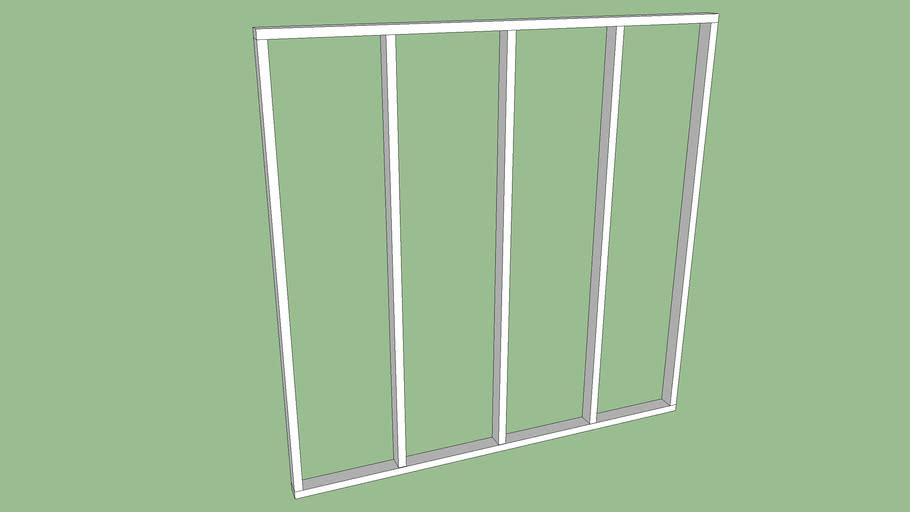 Metric Wall Framing ( using 9 x 4.5 cm (4 x 2) x 240 cm)