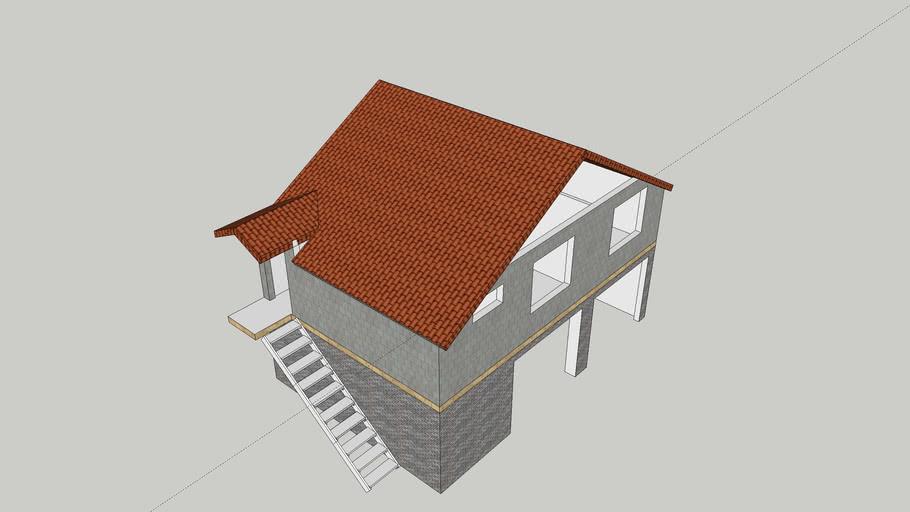Дом - гараж - котельная
