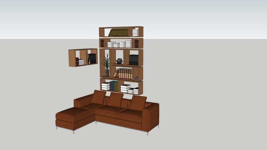 Book shelves - book - Leather Sofa - tree - Frame - set - ke sach - sach - sofa da - cay - tranh