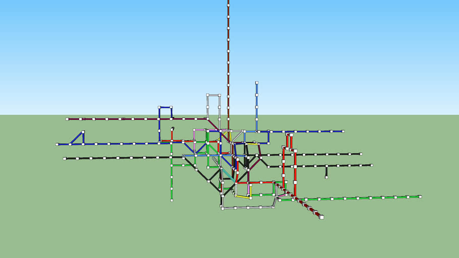 London Tube map in 3D