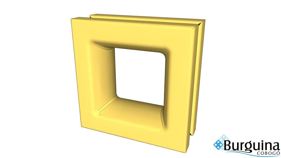 Cobogó Quadrado Amarelo Manteiga De Cerâmica Esmaltada 20X20X8 Cm