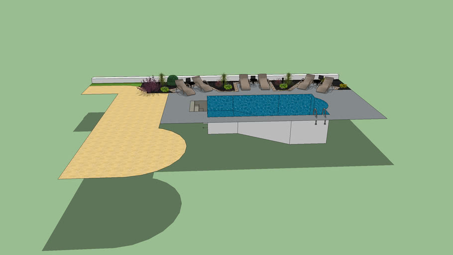 14x28 Roman Pool with loungers