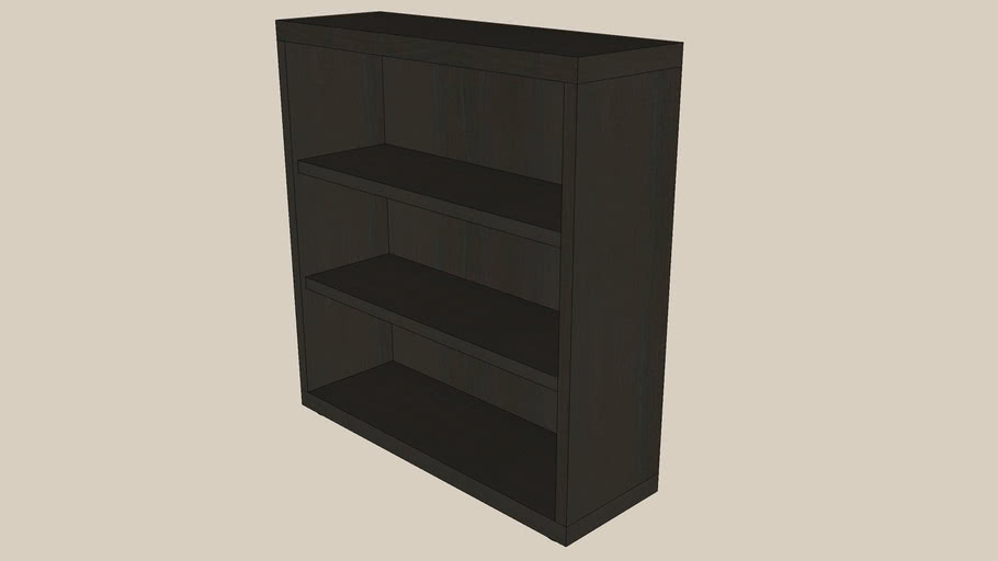 BESTA shelf 60x20x64 black-brown