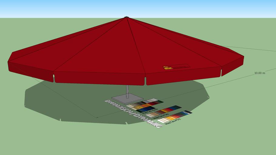 May Albatros 10m Round Giant Umbrella