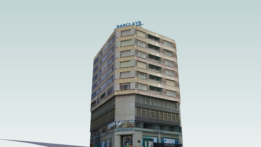 Edificio situado junto al Ayuntamiento de Santander