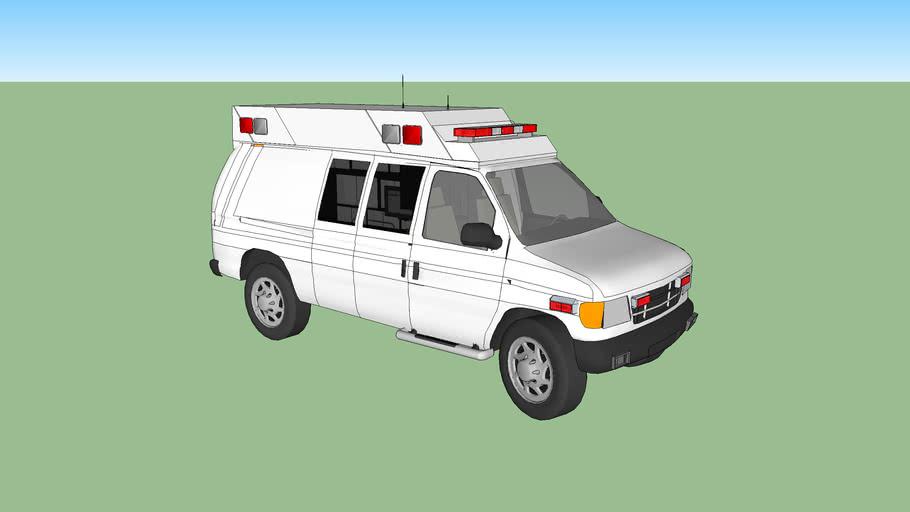 ambulance type ll ford f350 econoline model 1994