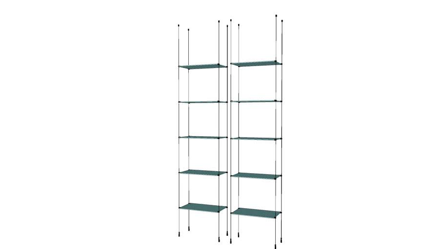 Cable - 2 Base Units - 10 Glass Shelves