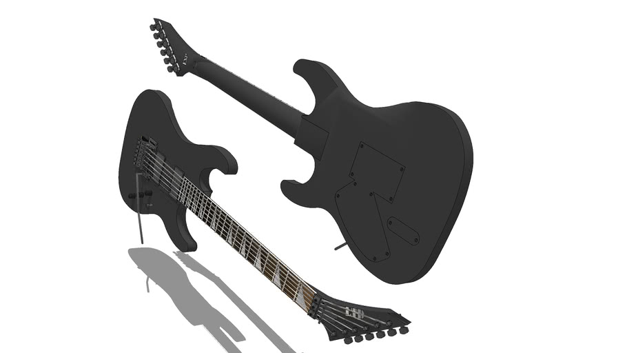 My ESP Guitar - Kirk Hammet styled. Thanks to the Awesome 'Sandman' for modelling the neck & bridge
