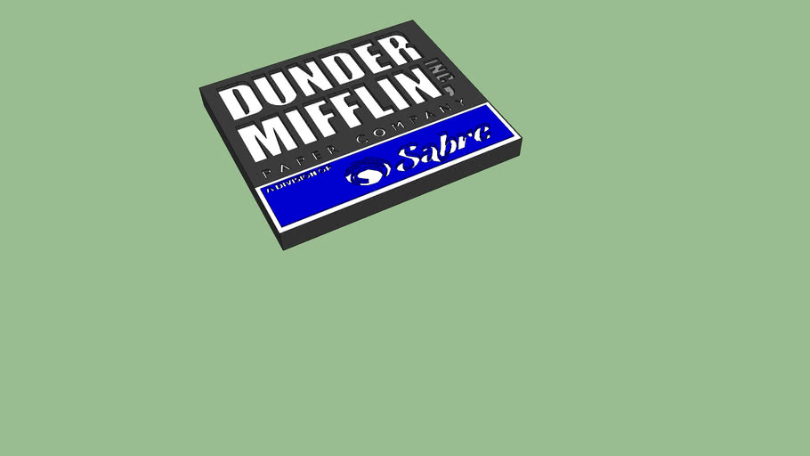 Dunder Mifflin Sign with Sabre