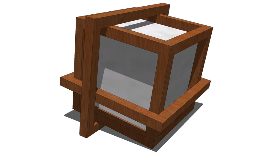 Desk Lamp - Cube