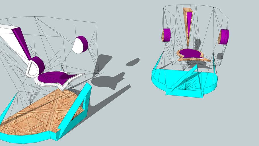 muebles sillas FUTURISTAS