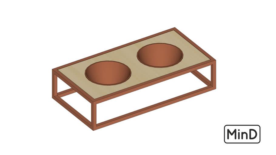 Comedouro pet metal terracota