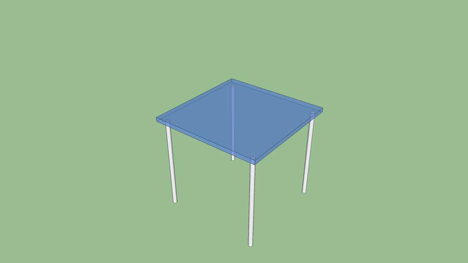 Mesa cristal 80x80 cm