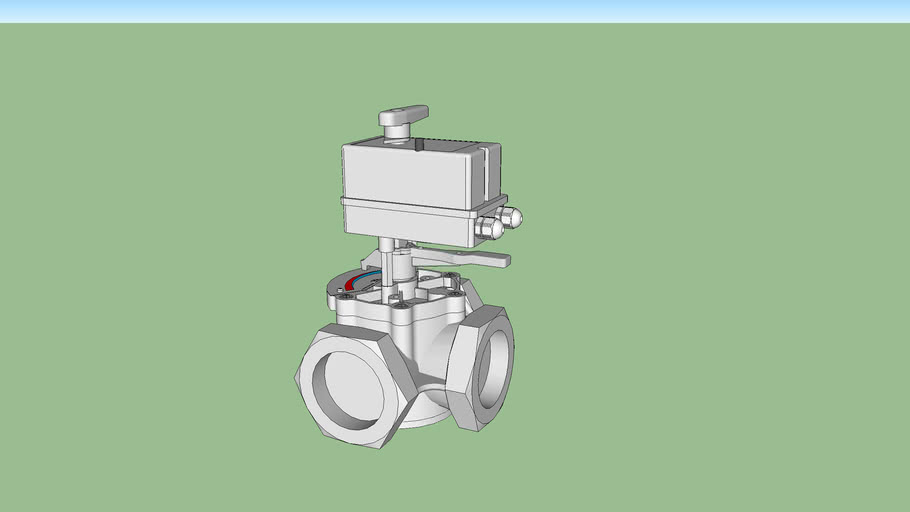 """Valvola Miscelatrice motorizzata, filettata, 2"""" 1/2 - Motorized valve, threaded, 2 """"1/2"""