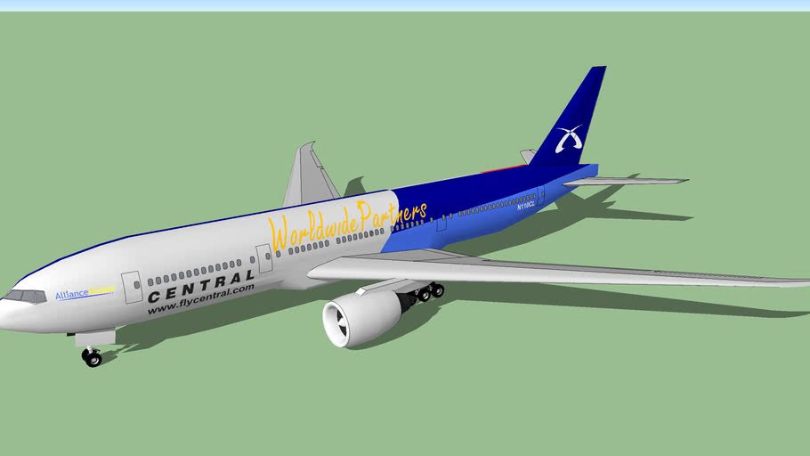 Central Air Lines/V2 Airlines (2012 [Fictional]) - Boeing 777-229LR