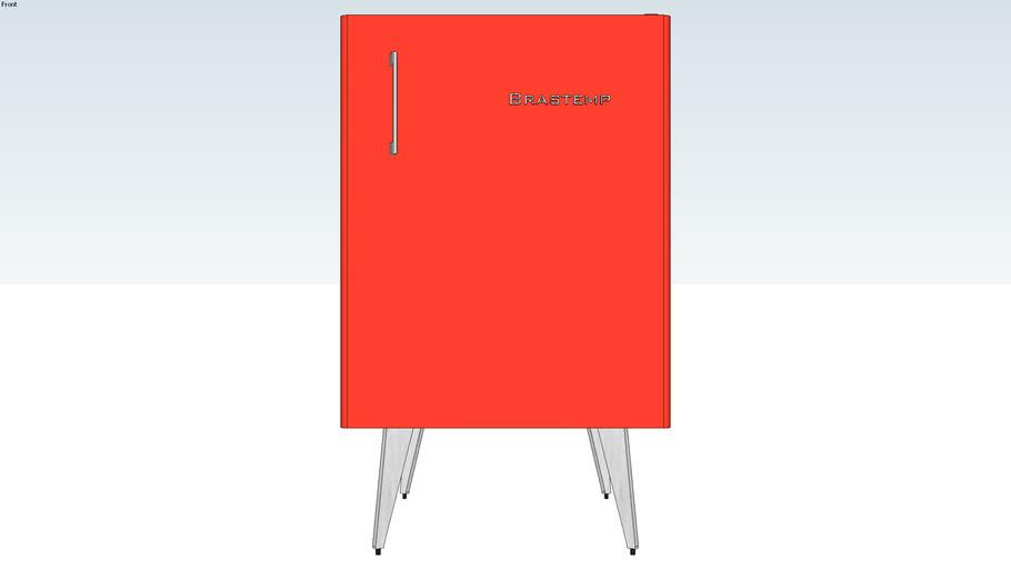 Frigobar Brastemp retro vermelho