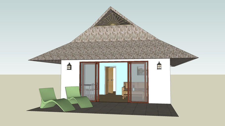resort nipa hut