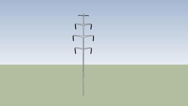 Six Wire Power Line Single Pole