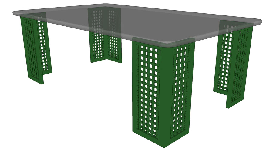 Furniture : Glass top table