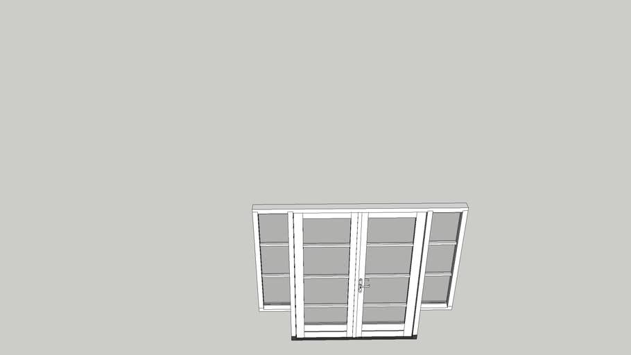 Openslaande tuindeuren met zijlichten