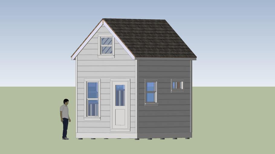 10x14 Mini House (White Finish)