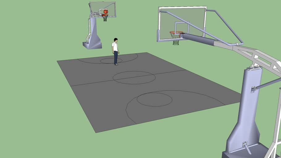 Basketball sportground